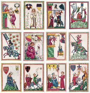 12 Postkarten Mittelalterliche Liedsänger, Minnesänger