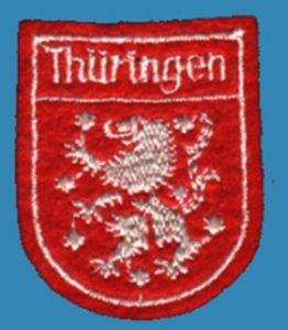 Aufnäher aus Filz - Thüringen, DDR