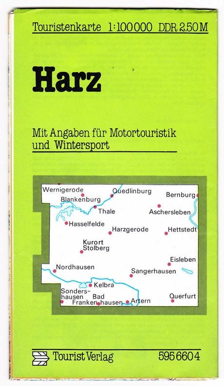 Touristenkarte Harz, 1984