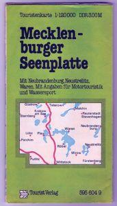 Touristenkarte Mecklenburger Seenplatte, 1984