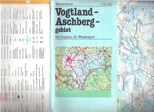 Wanderkarte Vogtland-Aschberggebiet, 1985