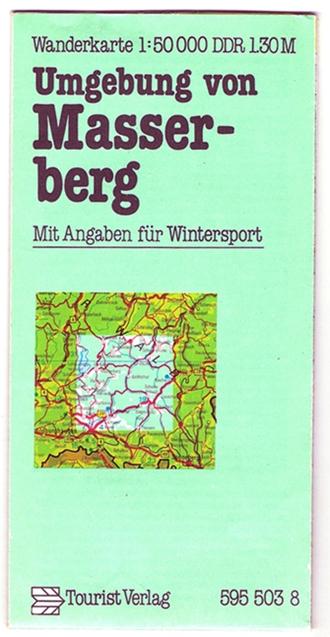 Wanderkarte Masserberg, Umgebung, 1983