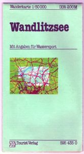 Wanderkarte Wandlitzsee, 1983