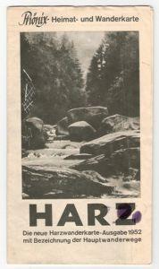 Harzwanderkarte, 1952