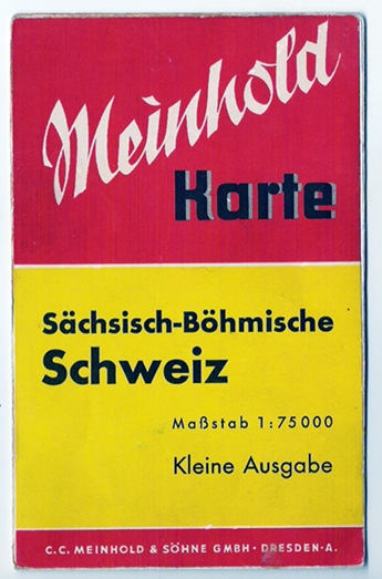 Meinhold Karte Sächsisch-Böhmische Schweiz, um 1940