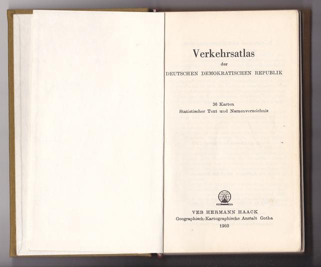 Verkehrsatlas der DDR - Haack 1960