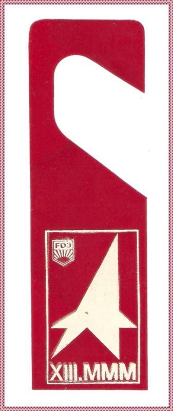 Werbe-Lesezeichen - FDJ / MMM, 1970