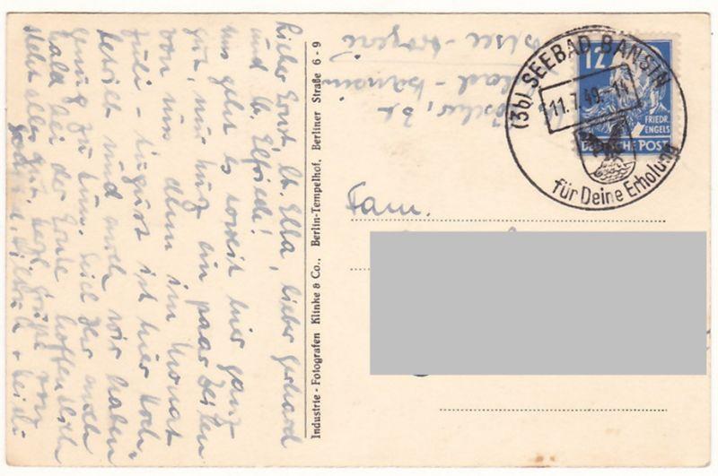 AK Bansin (Heringsdorf), sw., 1949 1