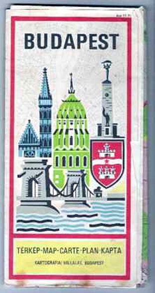 Stadtplan Budapest, riesig, 1970