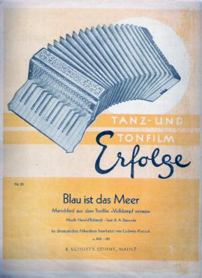 Blau ist das Meer - Tanz-u. Tonfilm-Erfolge, Nr.22