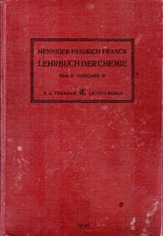 Lehrbuch der Chemie, Teil II - ein altes Schulbuch von 1930