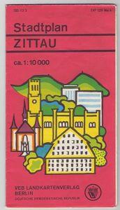 Stadtplan Zittau, DDR