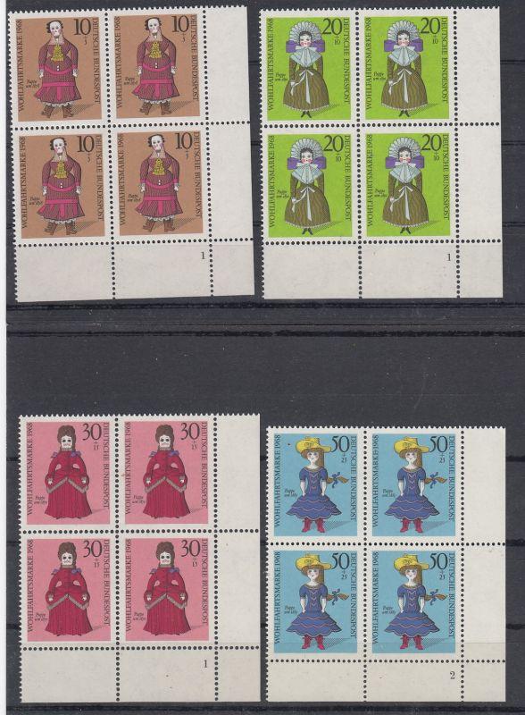 Bund Mi.-Nr.: 571/74 Vb Formnummer postfrisch