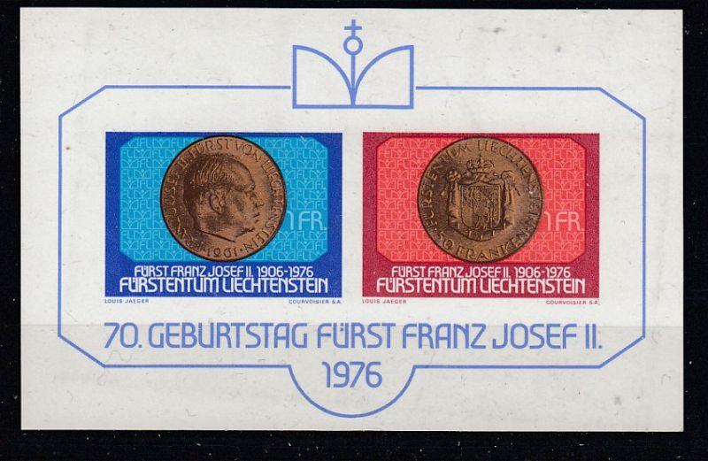 Liechtenstein Block 10  postfrisch