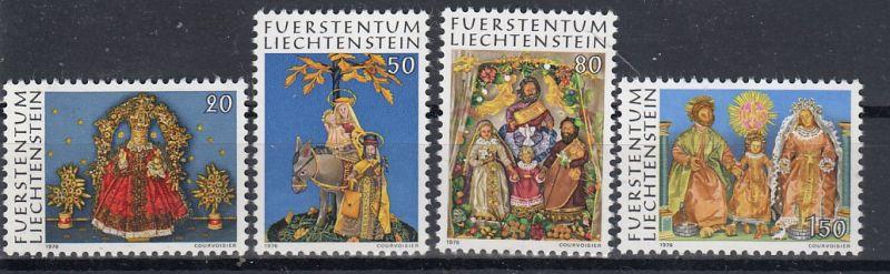 Liechtenstein Mi.-Nr.:  662/65  postfrisch