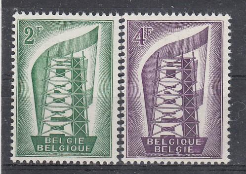Belgien Mi.-Nr.: 1043/44 CEPT 1956 postfrisch