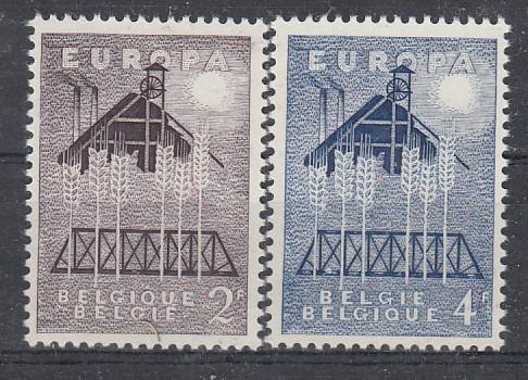 Belgien Mi.-Nr.: 1070/71 CEPT 1957 postfrisch
