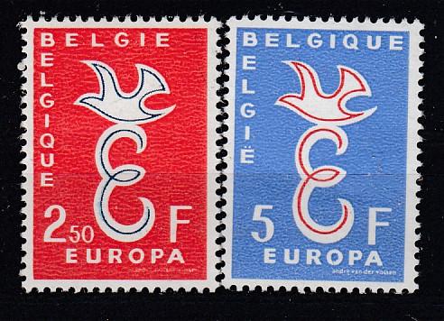 Belgien Mi.-Nr.: 1117/18 CEPT 1958 postfrisch
