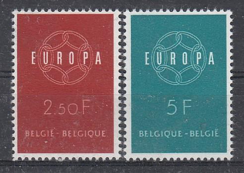 Belgien Mi.-Nr.: 1164/65 CEPT 1959 postfrisch