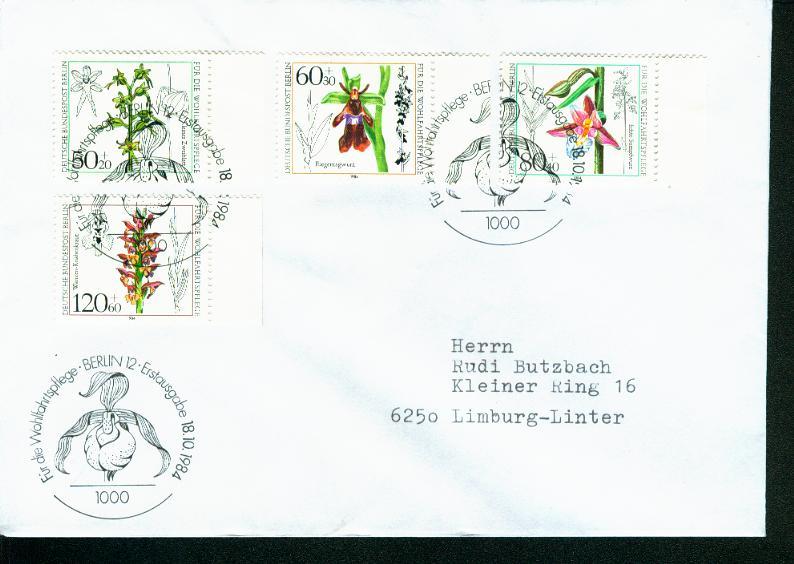 Berlin Mi.-Nr.: 724/27  FDC 0