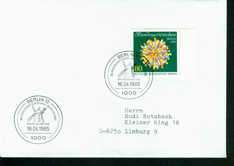 Berlin Mi.-Nr.: 734  FDC 0