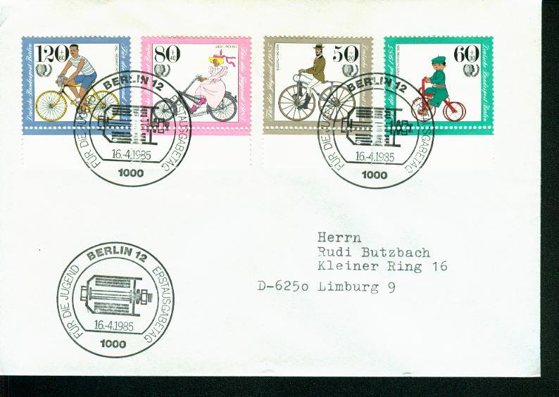 Berlin Mi.-Nr.: 735/38  FDC 0