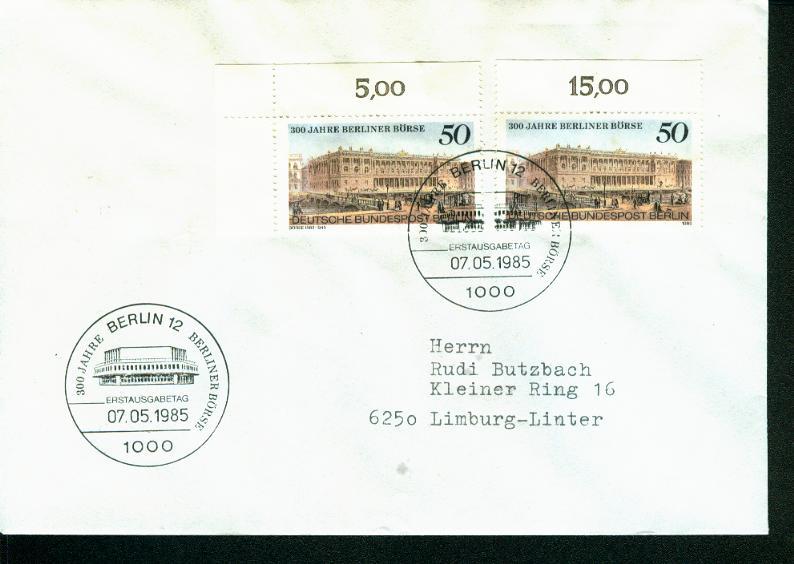 Berlin Mi.-Nr.: 740  FDC 0