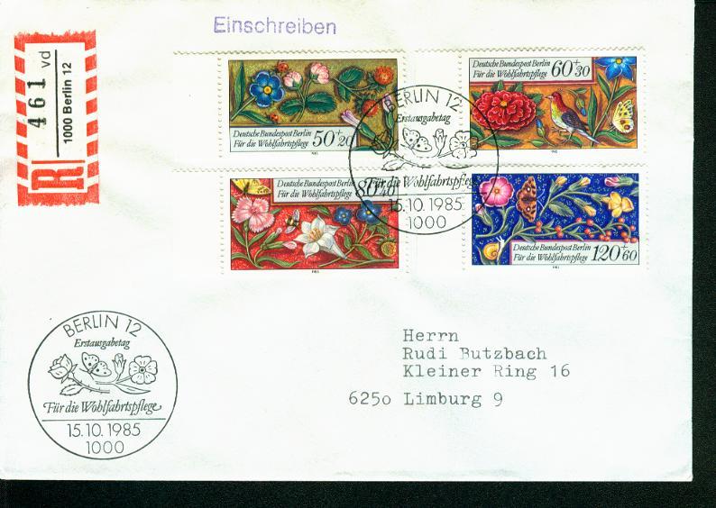 Berlin Mi.-Nr.: 744/47  FDC 0