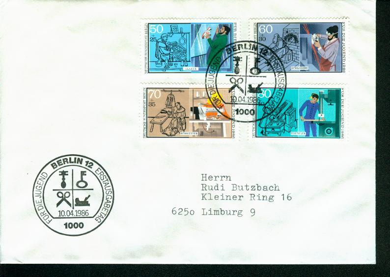 Berlin Mi.-Nr.: 754/57  FDC 0