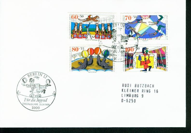 Berlin Mi.-Nr.: 838/41  FDC 0