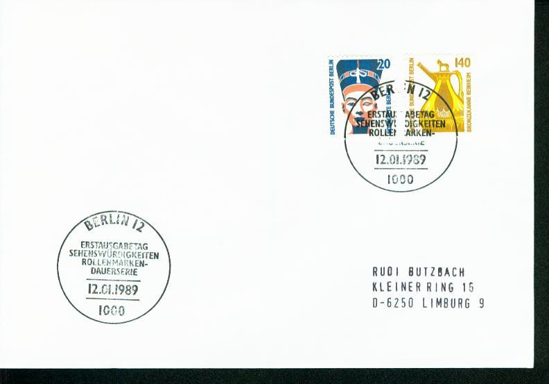 Berlin Mi.-Nr.: 831/32  FDC 0