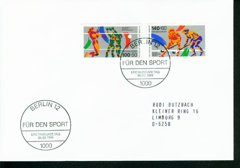 Berlin Mi.-Nr.: 836/37  FDC 0