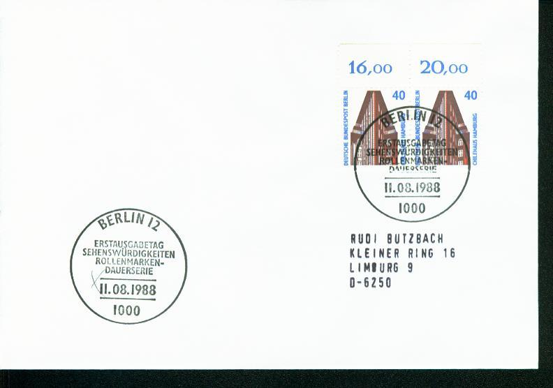 Berlin Mi.-Nr.: 816  FDC 0