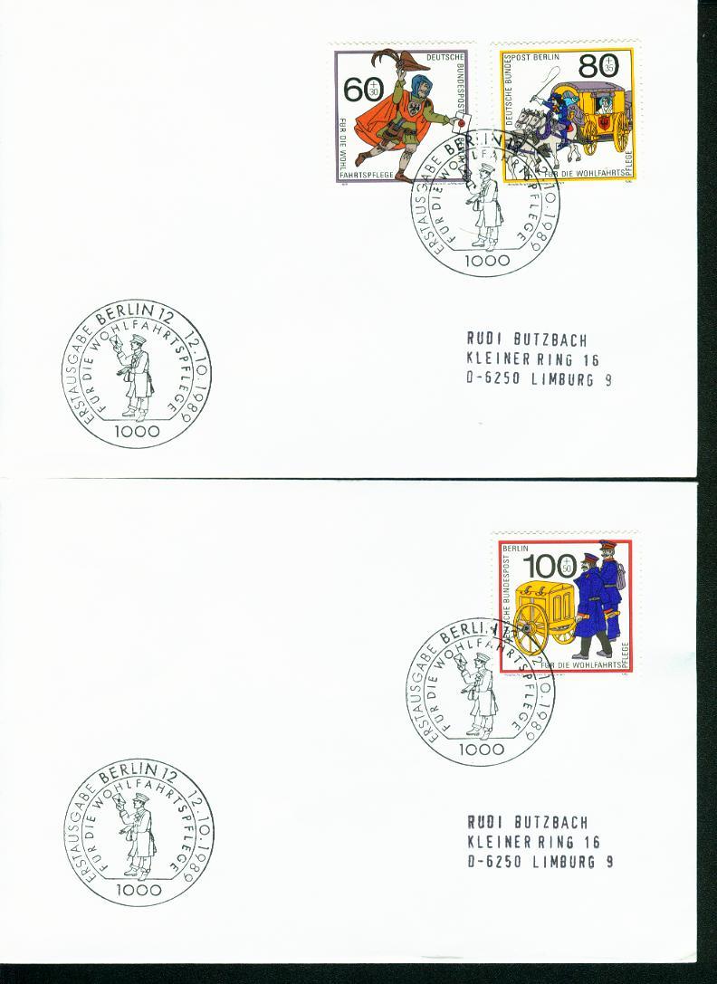 Berlin Mi.-Nr.: 852/54  FDC 0