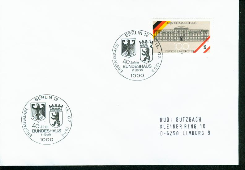 Berlin Mi.-Nr.: 867  FDC 0