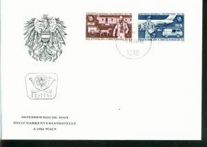 Österreich Mi.-Nr.: 1466/67  FDC