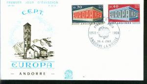 Andorra Mi.-Nr.: 214/15  FDC