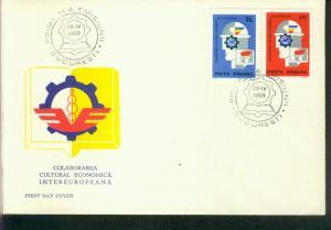 Rumänien Mi.-Nr.: 2764/65  FDC