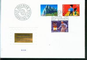Schweiz Mi.-Nr.: 911/13  FDC