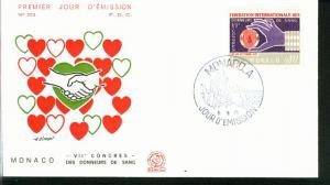 Monaco Mi.-Nr.: 1011  FDC