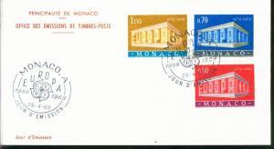 Monaco Mi.-Nr.: 929/31  FDC