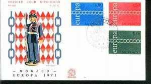 Monaco Mi.-Nr.: 1014/16  FDC