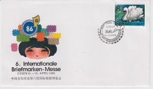 China Gedenkblatt Essen 86