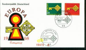 Bund Mi.-Nr.: 559/60  FDC Cept