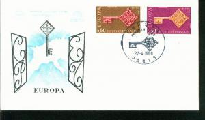 Frankreich Mi.-Nr.: 1621/22  FDC Cept