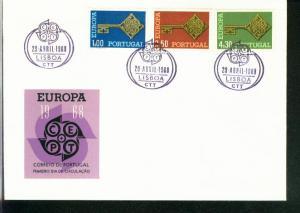 Portugal Mi.-Nr.: 1051/53  FDC Cept