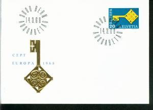 Schweiz Mi.-Nr.: 871  FDC Cept