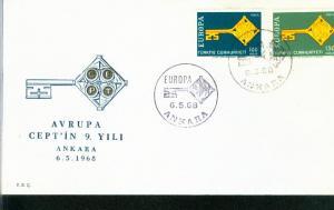 Türkei  Mi.-Nr.: 2095/96  FDC Cept