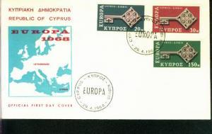 Zypern Mi.-Nr.: 307/09  FDC Cept