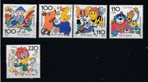 Bund Mi.-Nr.. 1990/94 postfrisch